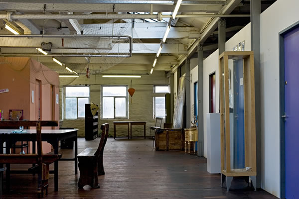 Art Space Shared Hallway with Individual lockable studios